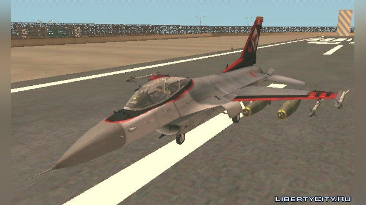 Самолет и вертолет F 16 Fighter Squadron для GTA San Andreas (iOS, Android)