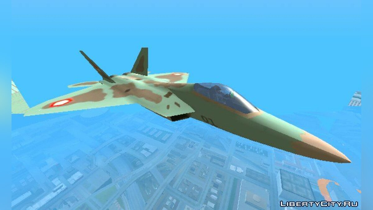 Самолет и вертолет F-22 Raptor TNI AU / ВВС Индонезии для GTA San Andreas (iOS, Android)