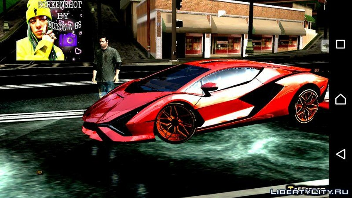 Машина Lamborghini Sian 2020 для GTA San Andreas (iOS, Android)