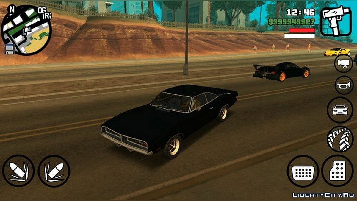 Dodge Charger RT для GTA San Andreas (iOS, Android)