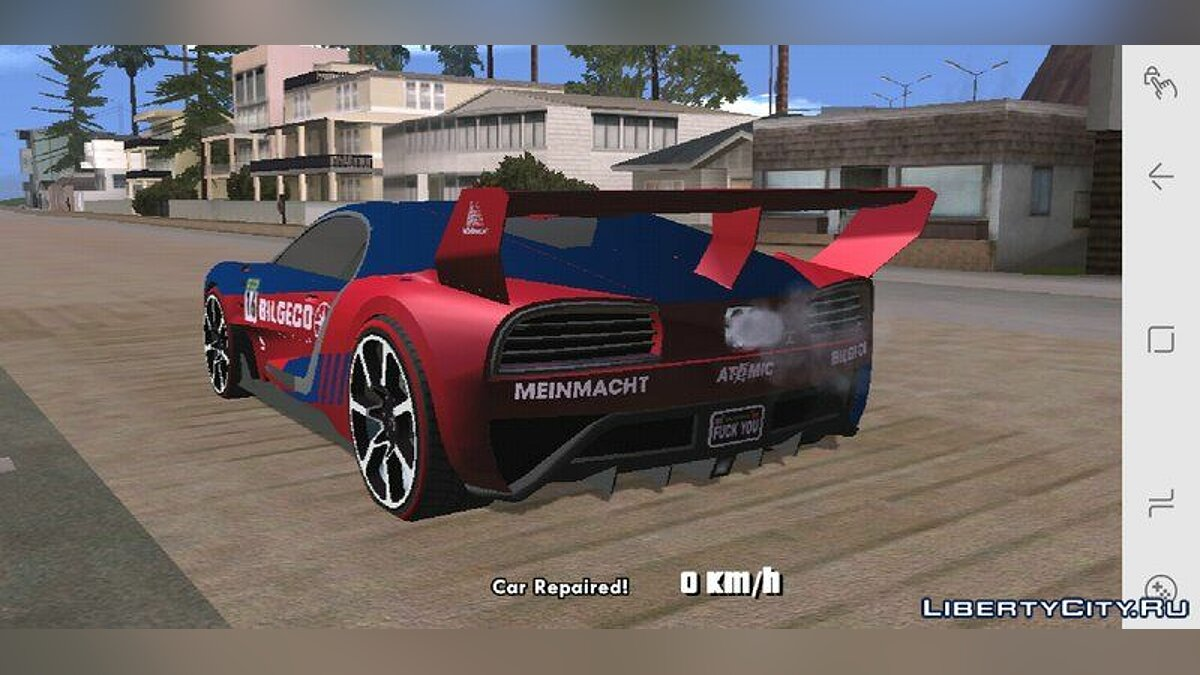 Truffade Nero Custom for Mobile для GTA San Andreas (iOS, Android) - скриншот #4