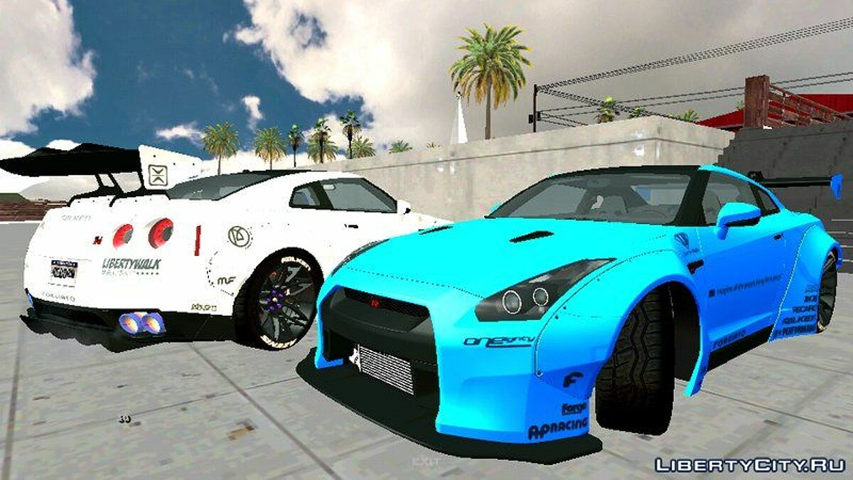 Машина Nissan GTR R35 Premium Liberty Walks для GTA San Andreas (iOS, Android)