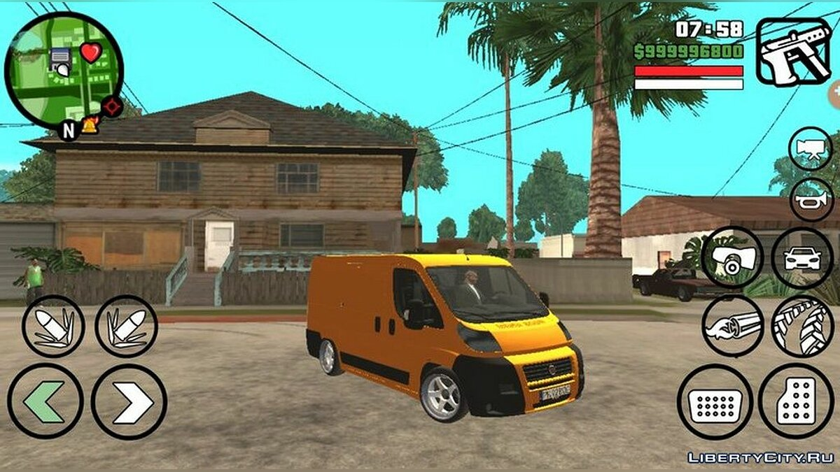 Fiat Ducato 2013 года для GTA San Andreas (iOS, Android)
