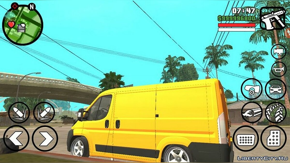 Fiat Ducato 2013 года для GTA San Andreas (iOS, Android) - скриншот #2