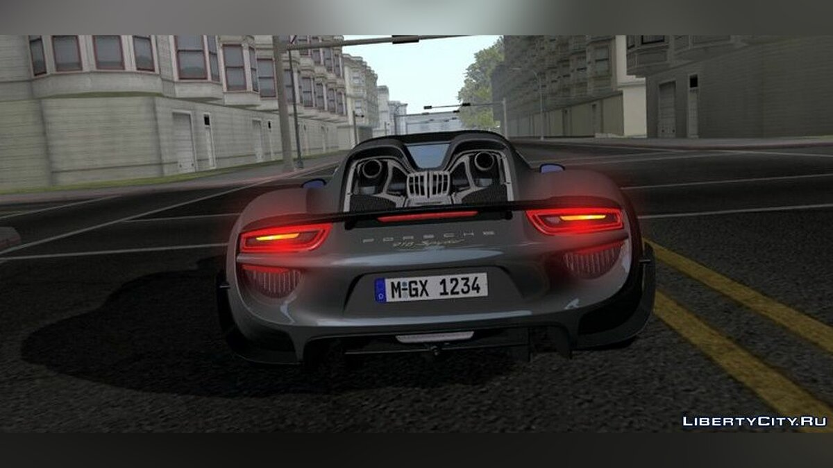 Porsche 918 Spyder для GTA San Andreas (iOS, Android) - Картинка #3