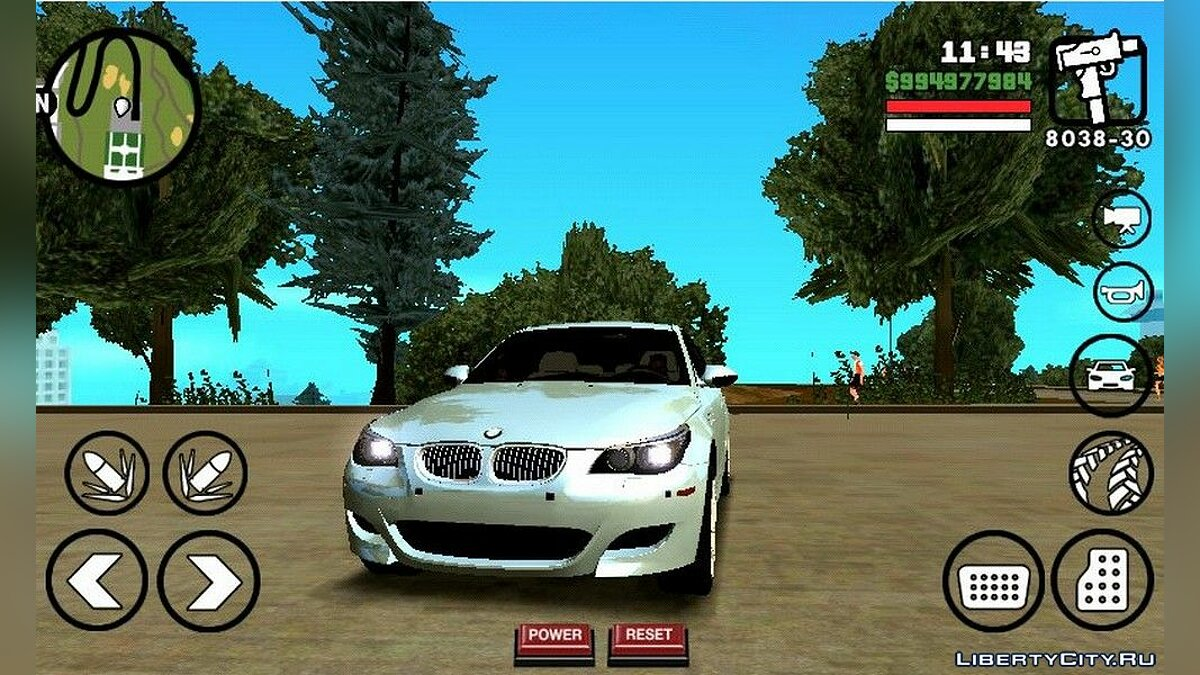 BMW M5 для GTA San Andreas (iOS, Android) - Картинка #1
