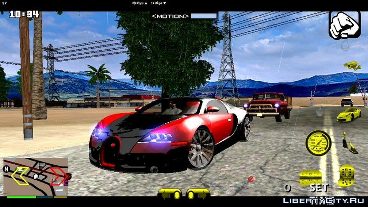 Машина Bugatti Veyron 16.4 для GTA San Andreas (iOS, Android)