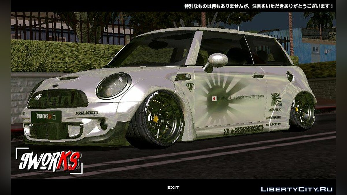 Mini Cooper S Liberty Walk для GTA San Andreas (iOS, Android) - Картинка #1