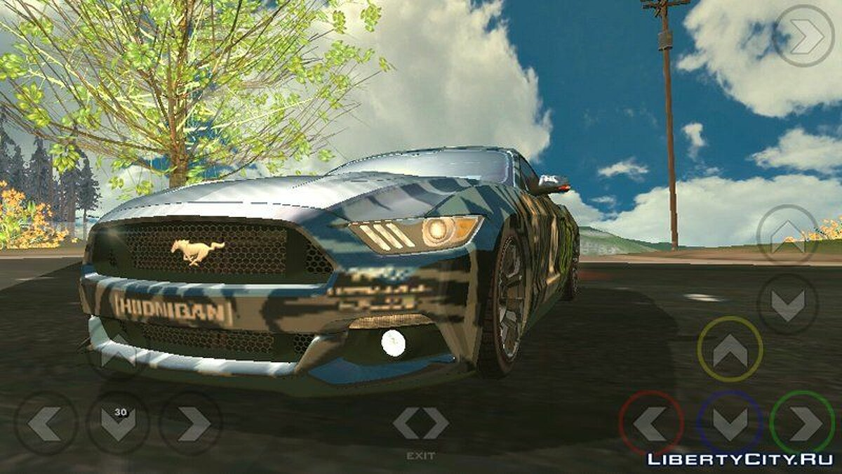 Ford Mustang GT для GTA San Andreas (iOS, Android) - Картинка #3