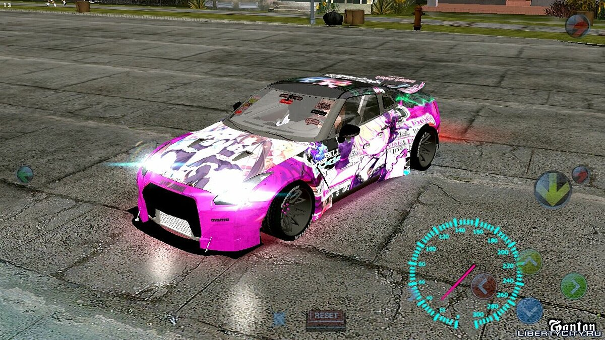 Nissan GT-R Need for Speed для GTA San Andreas (iOS, Android)