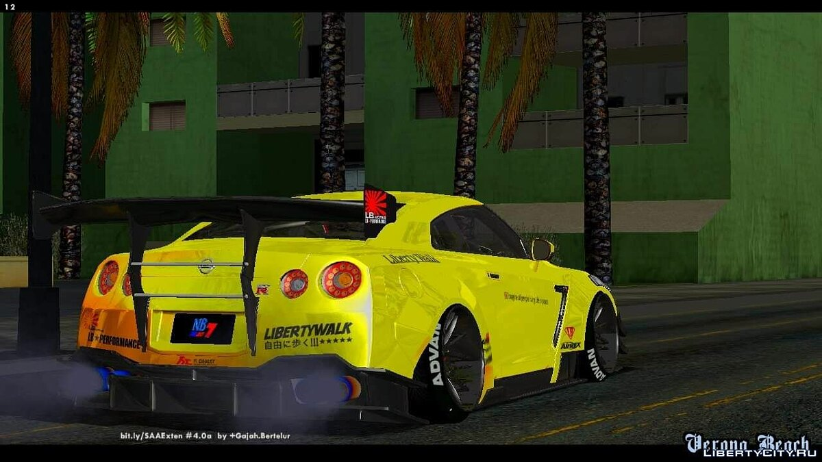 Nissan GT-R35 Libety Walk Type 2 2018 для GTA San Andreas (iOS, Android) - Картинка #2