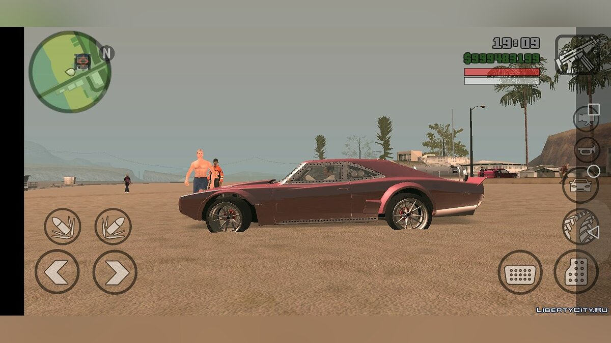 Машина Dom's Ice Charger для GTA San Andreas (iOS, Android)
