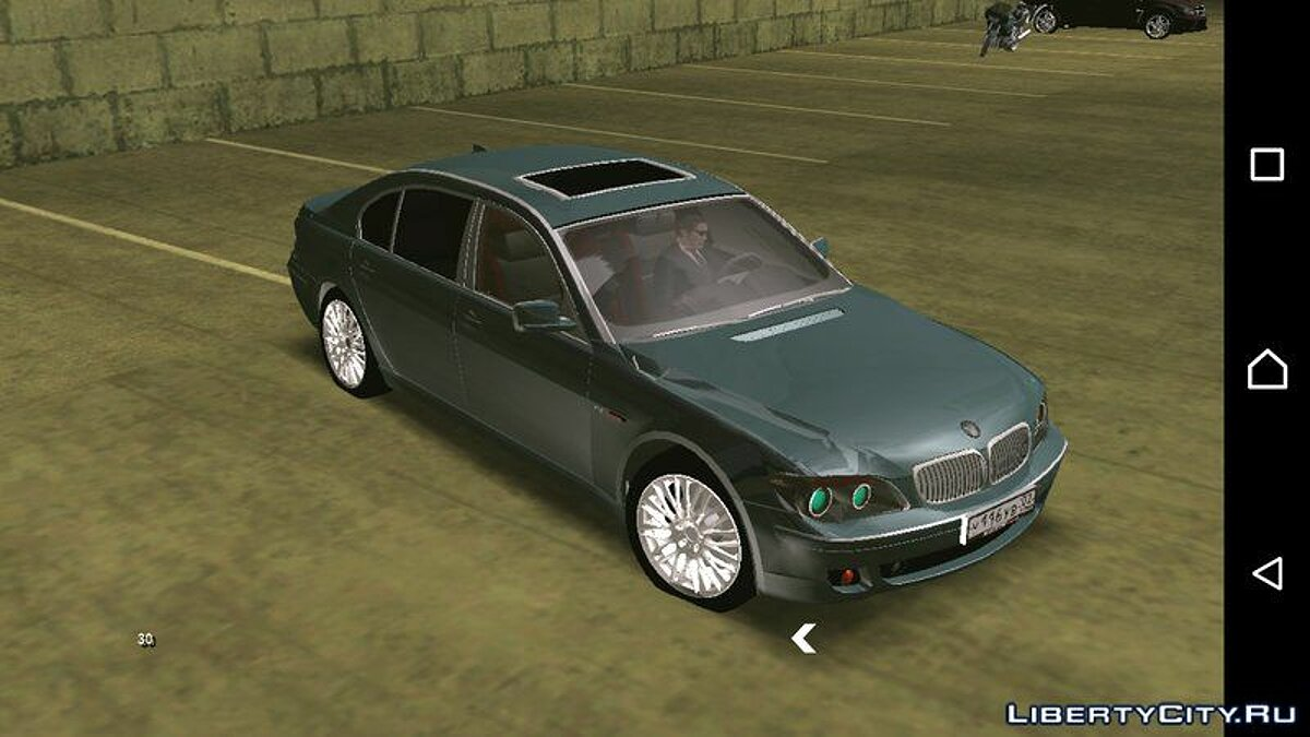 BMW 760i (no txd) for Android для GTA San Andreas (iOS, Android) - скриншот #2