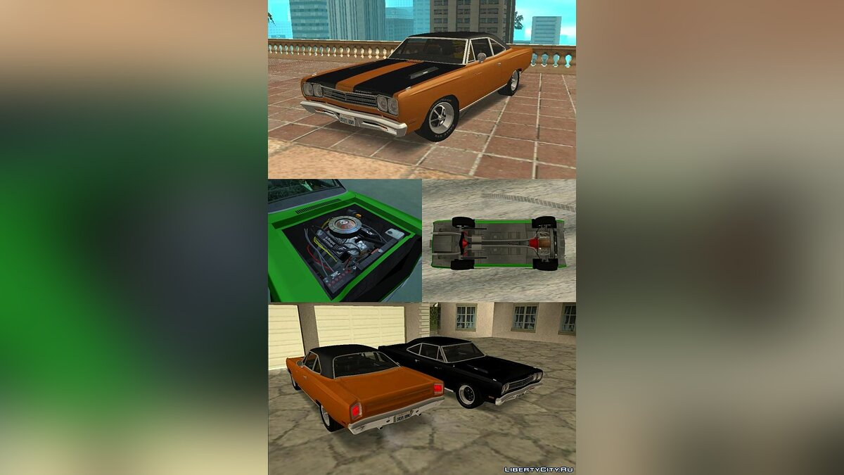 Playmouth Roadrunner  1966 года для GTA San Andreas (iOS, Android) - Картинка #4
