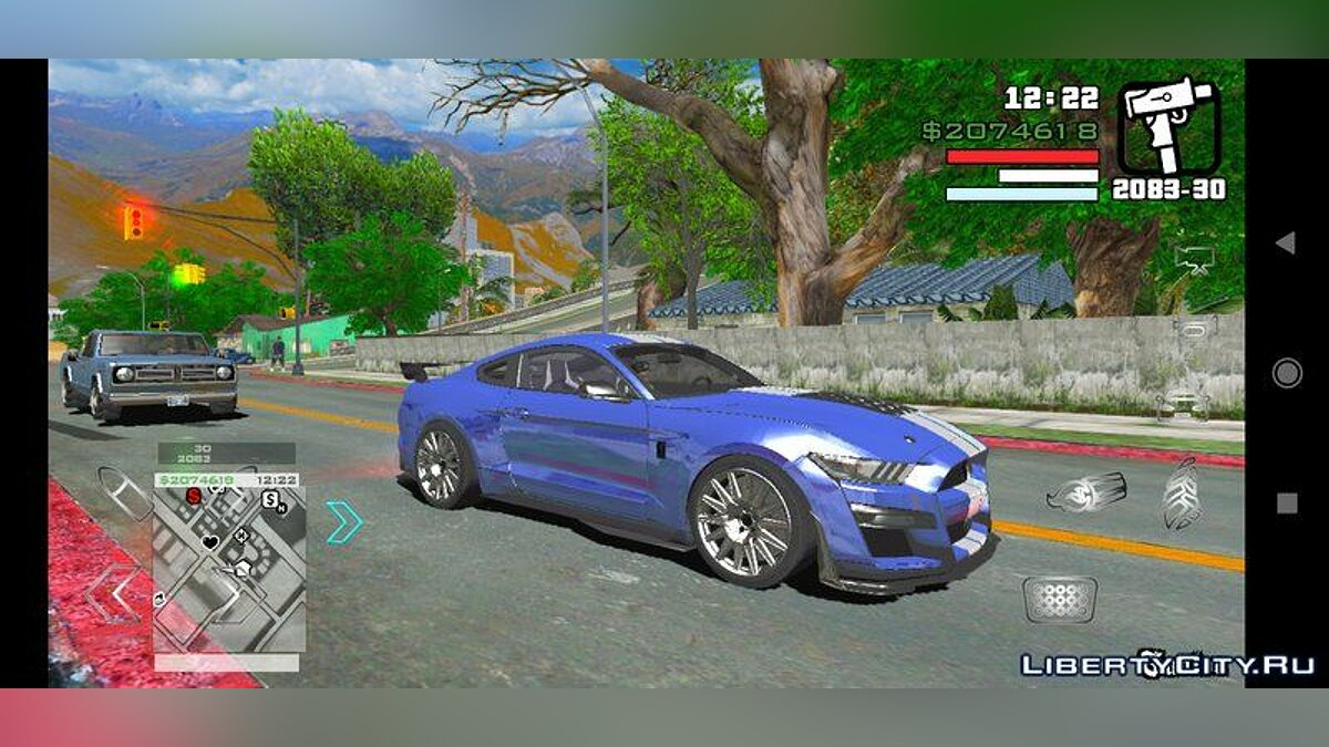 Машина Ford Mustang Shelby GT 500 2019 для GTA San Andreas (iOS, Android)