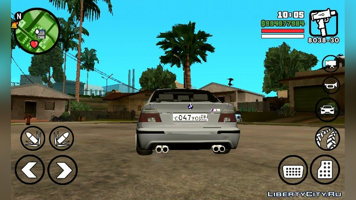 BMW M5 для GTA San Andreas (iOS, Android) - скриншот #2