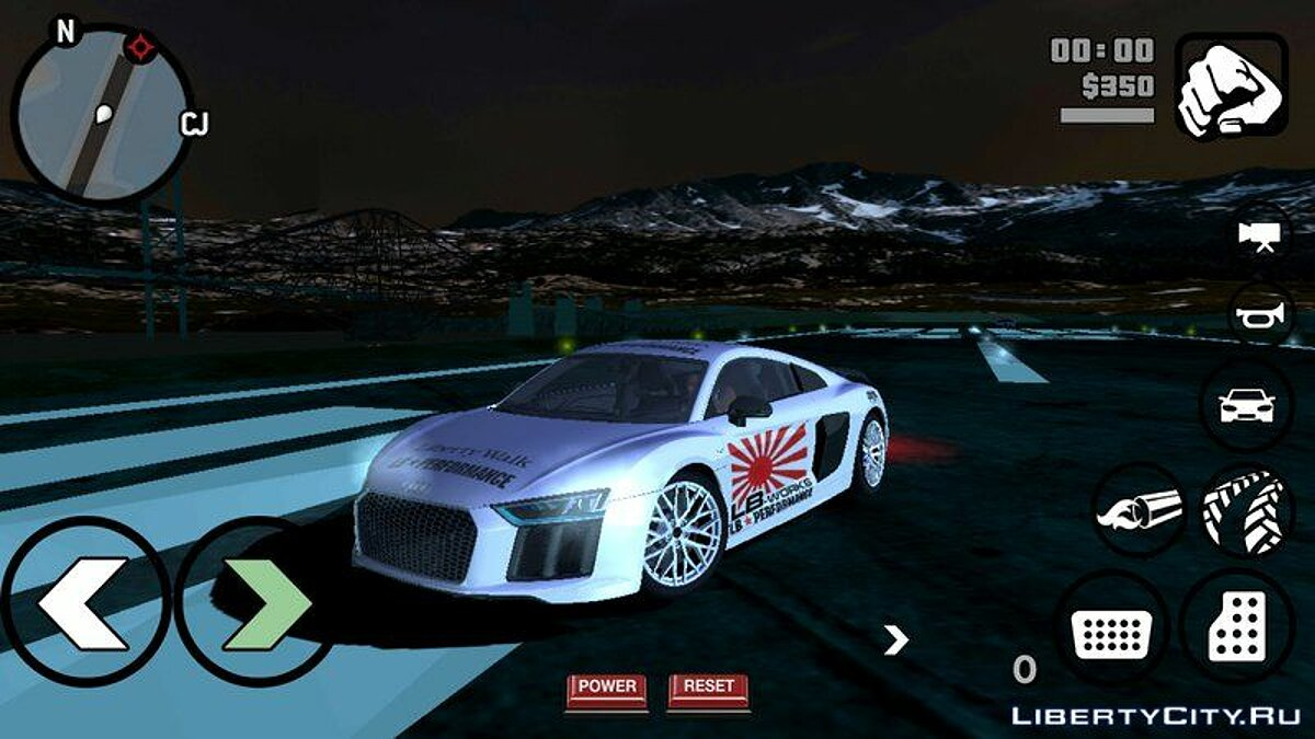 Audi R8 2018 Liberty Walk для GTA San Andreas (iOS, Android) - Картинка #2