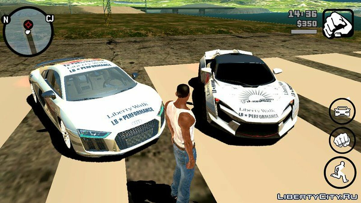 Audi R8 2018 Liberty Walk для GTA San Andreas (iOS, Android) - Картинка #3