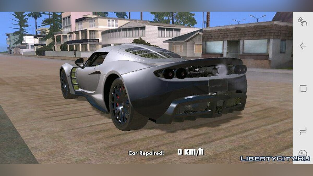 Hennessey Venom GT for Mobile для GTA San Andreas (iOS, Android) - скриншот #4