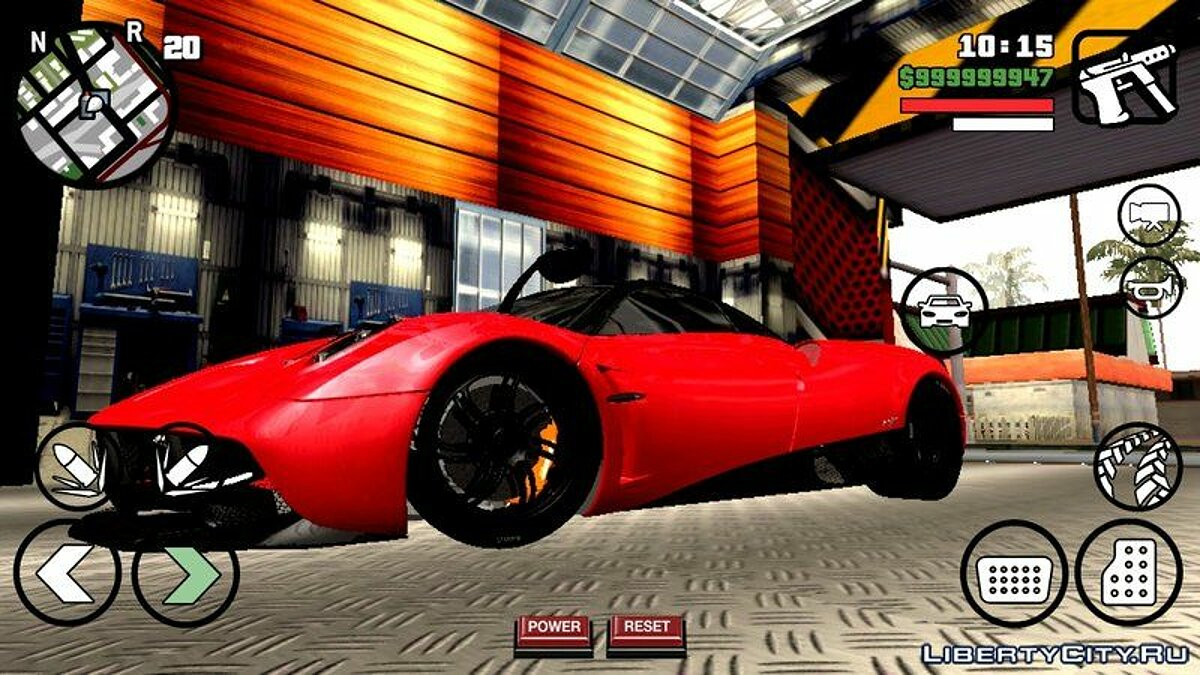 Pagani Huayra для GTA San Andreas (iOS, Android) - скриншот #6