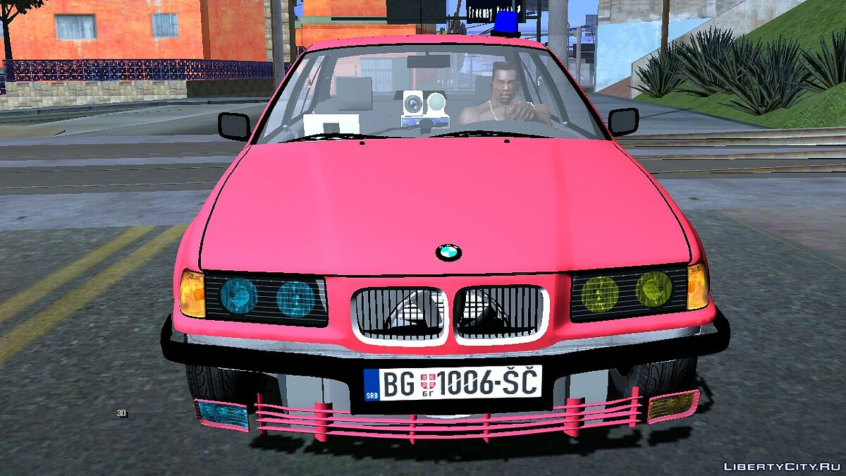 Машина BMW 320i e36 Civil Police для GTA San Andreas (iOS, Android)