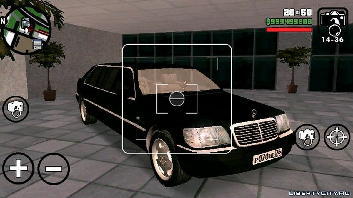 Mercedes Benz S600 Limousine для GTA San Andreas (iOS, Android) - Картинка #1
