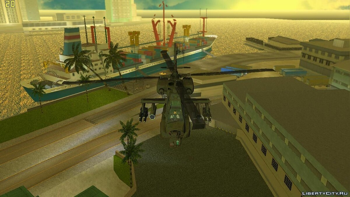 AH-64A Apache для GTA Vice City - скриншот #3