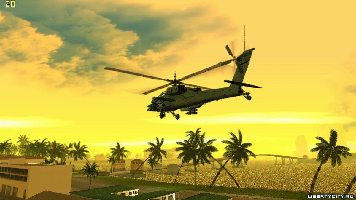 AH-64A Apache для GTA Vice City - скриншот #4
