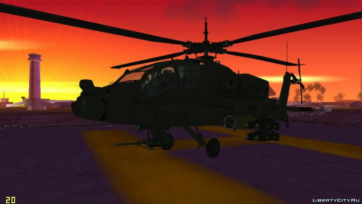 AH-64A Apache для GTA Vice City
