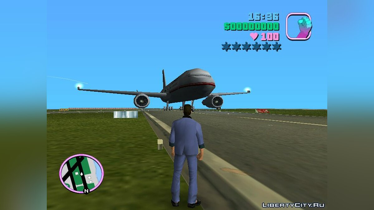 ��амолет и вертолет NFS Underground Airplane-object для GTA Vice City