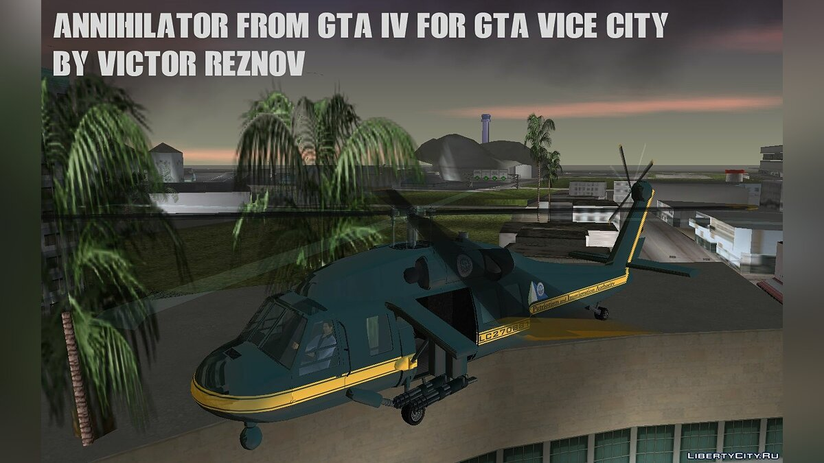 Самолет и вертолет Annihilator from GTA IV for GTA Vice City для GTA Vice City