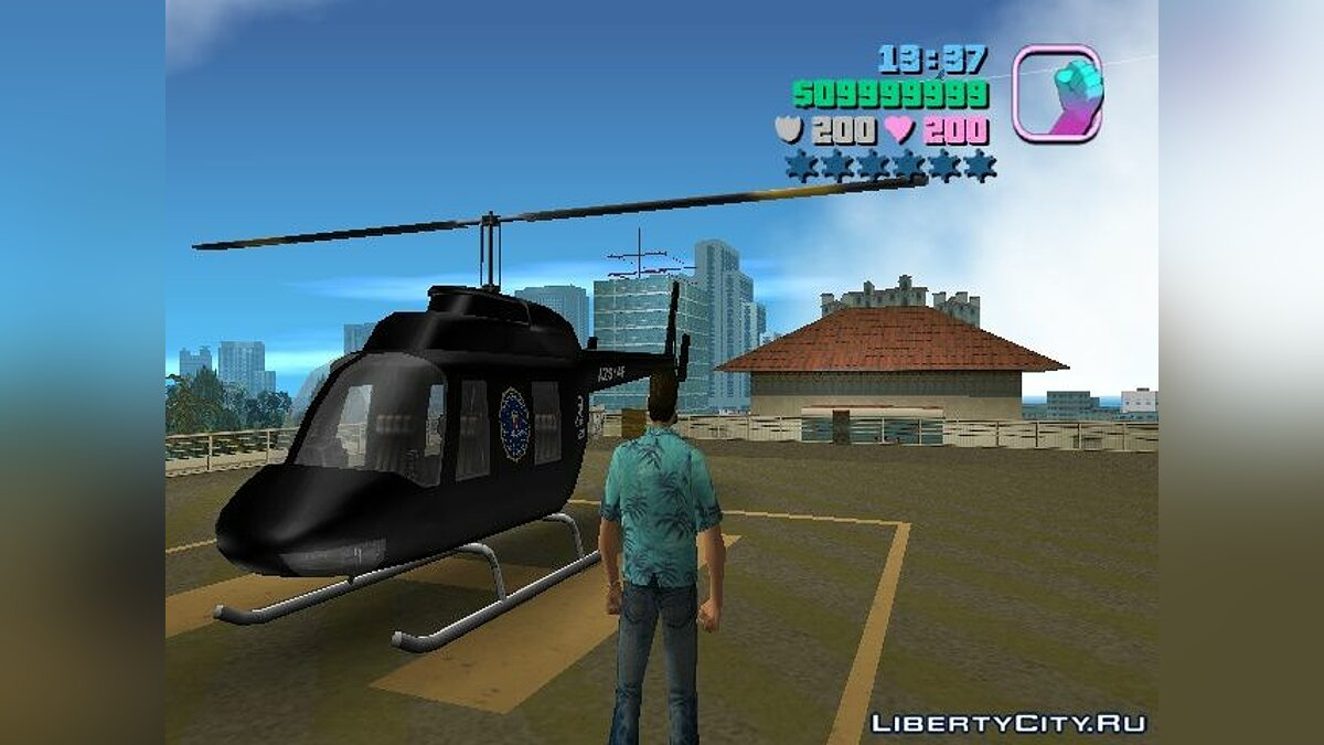 FBI Chopper для GTA Vice City