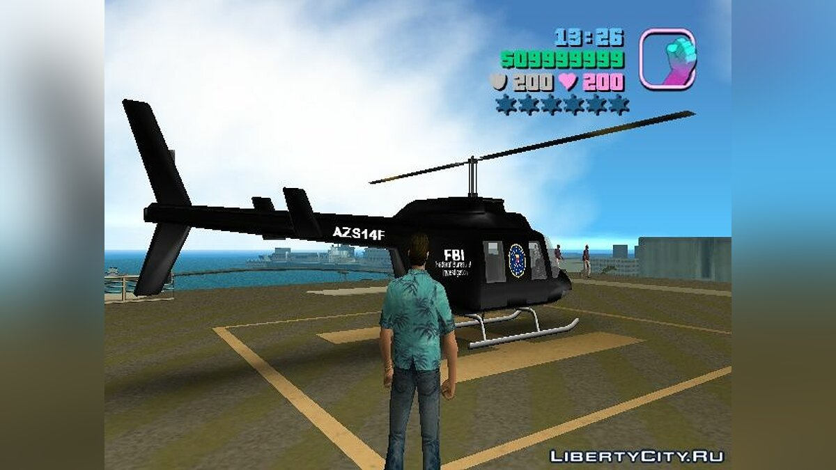 FBI Chopper для GTA Vice City - скриншот #3