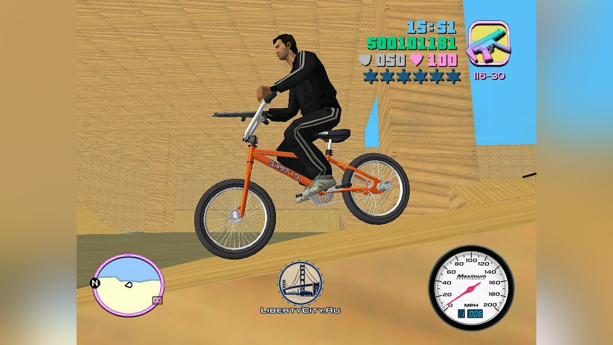 San Andreas BMX для GTA Vice City