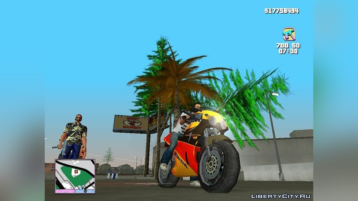 ��отоцикл Honda VFR 750R Bike для GTA Vice City