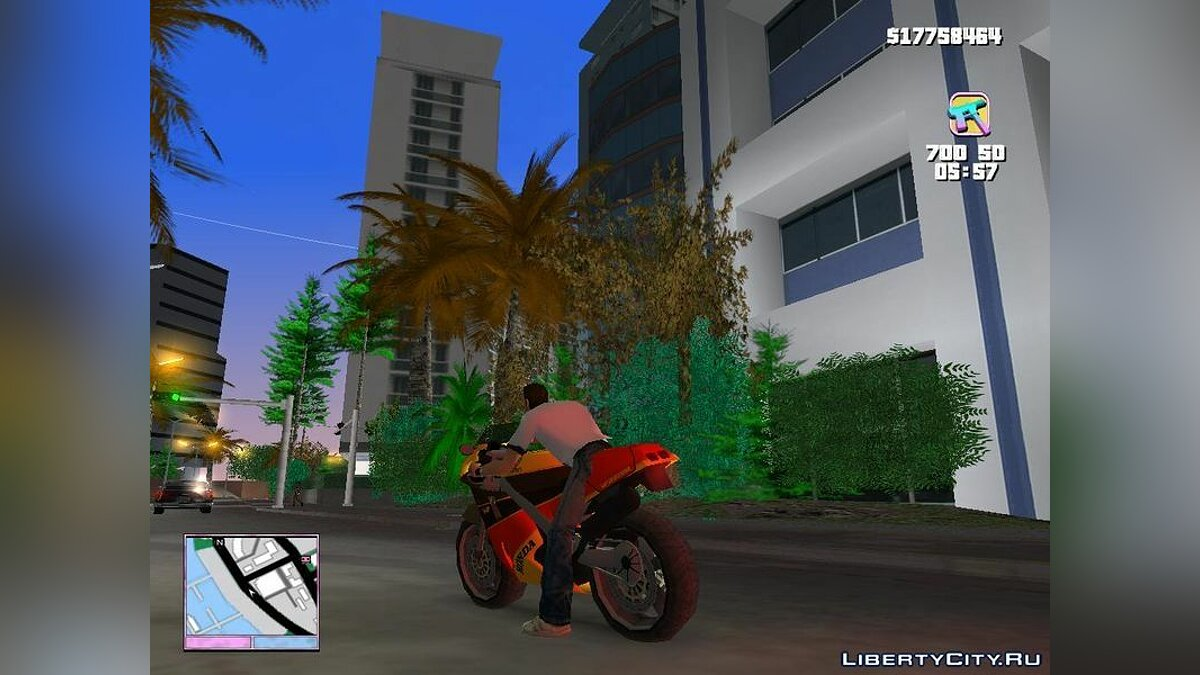 Мотоцикл Honda VFR 750R Bike для GTA Vice City