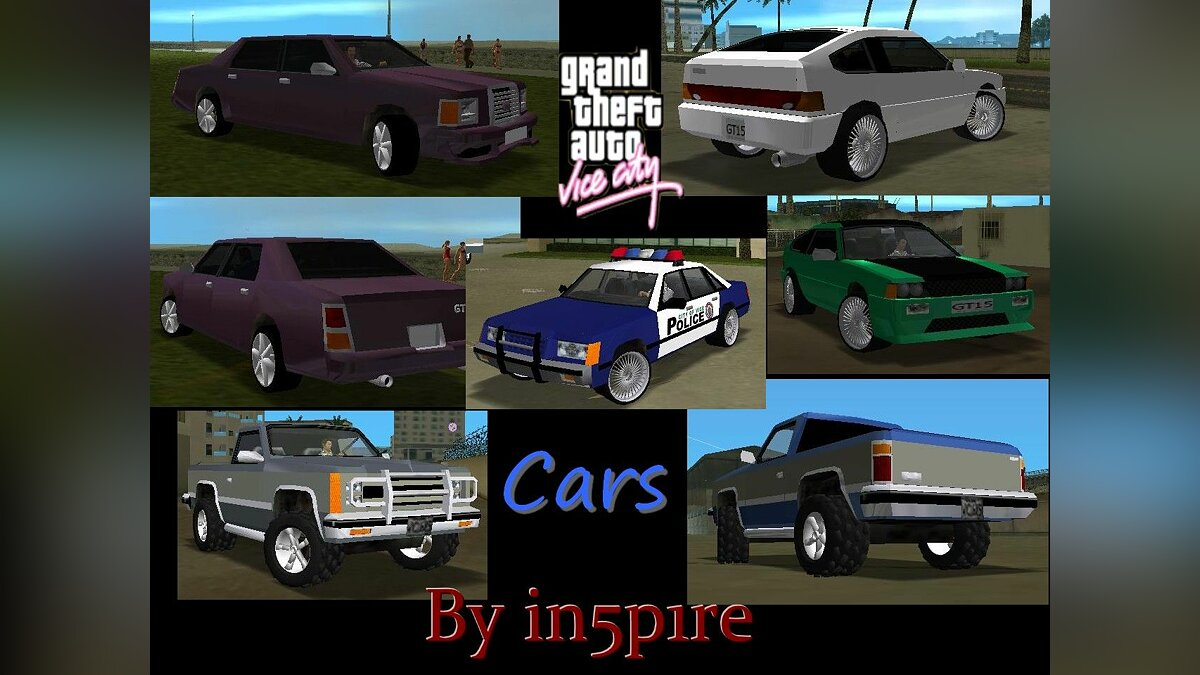 Tuned cars Vice City для GTA Vice City