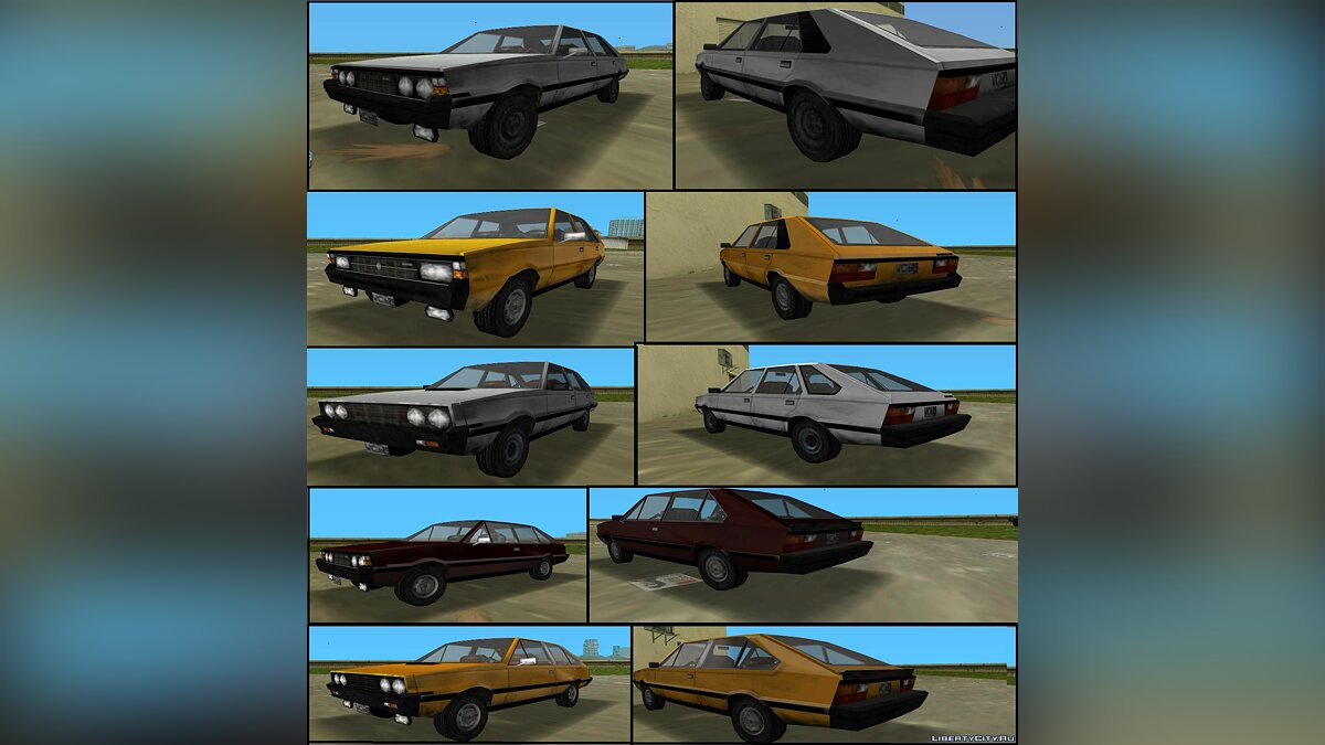 Сборник машин FSO Polonez MR'78-83, 3-door, Coupe, 1.5C, MR'87 для GTA Vice City