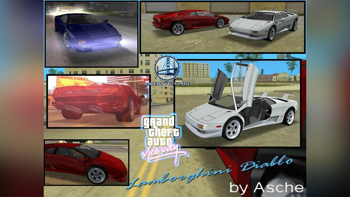 Lamborgini Diablo (conversion) для GTA Vice City - Картинка #1