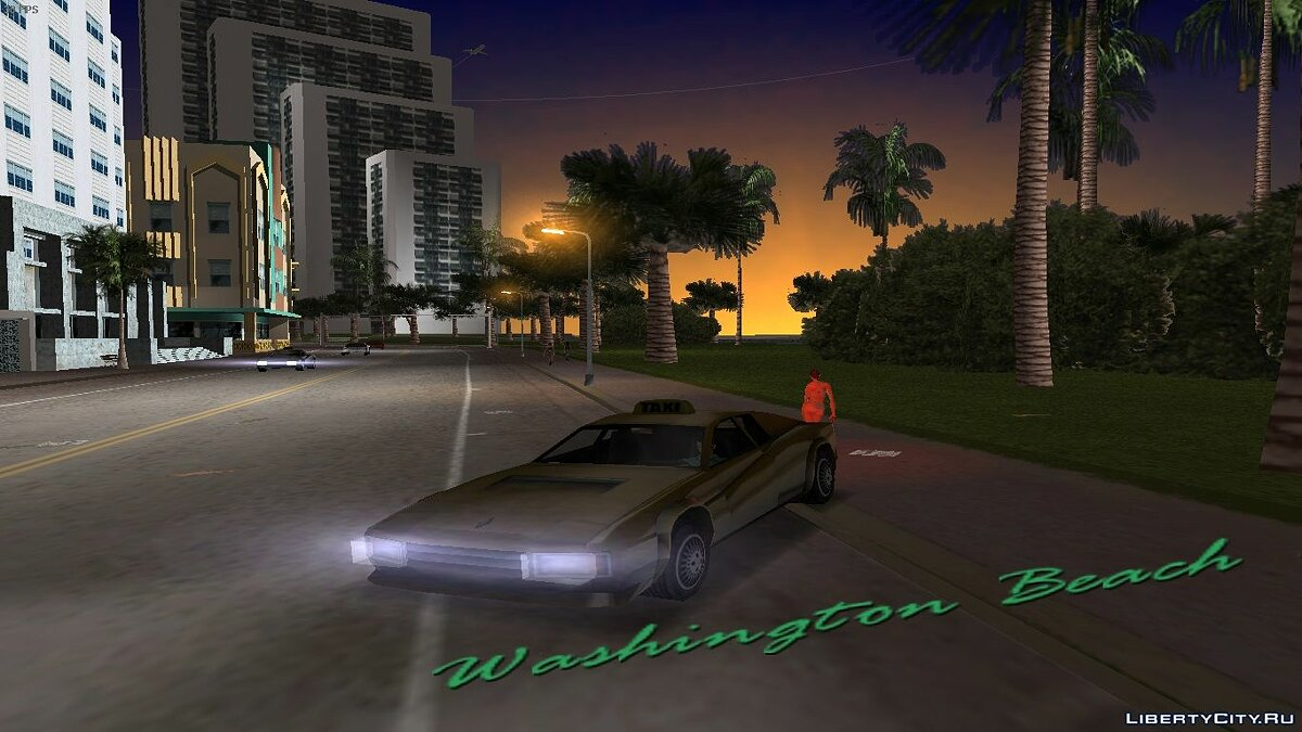 Cheetah Taxi для GTA Vice City