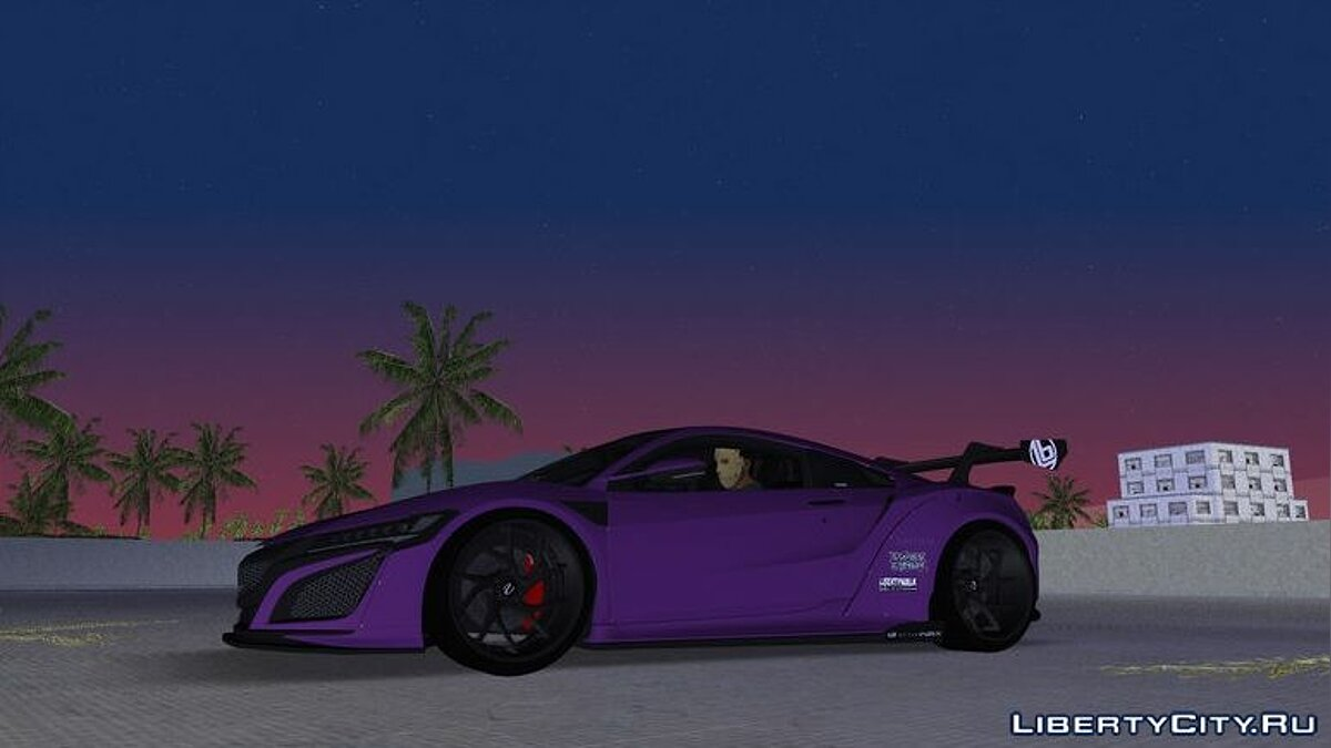Honda NSX Liberty Walk для GTA Vice City - Картинка #1