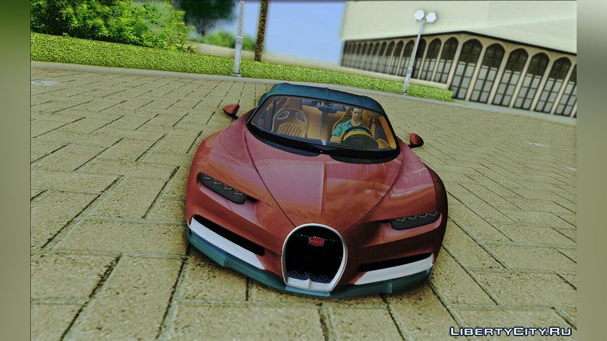 Bugatti Chiron для GTA Vice City - скриншот #4
