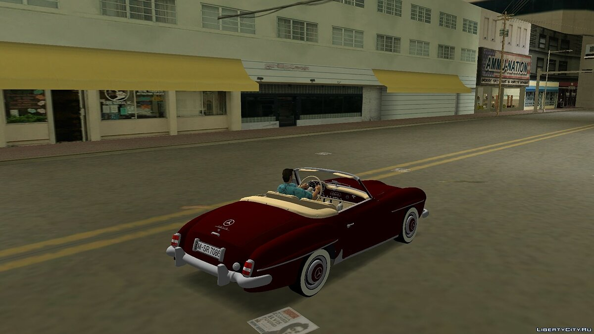 Машина Mercedes Benz 190 SL для GTA Vice City