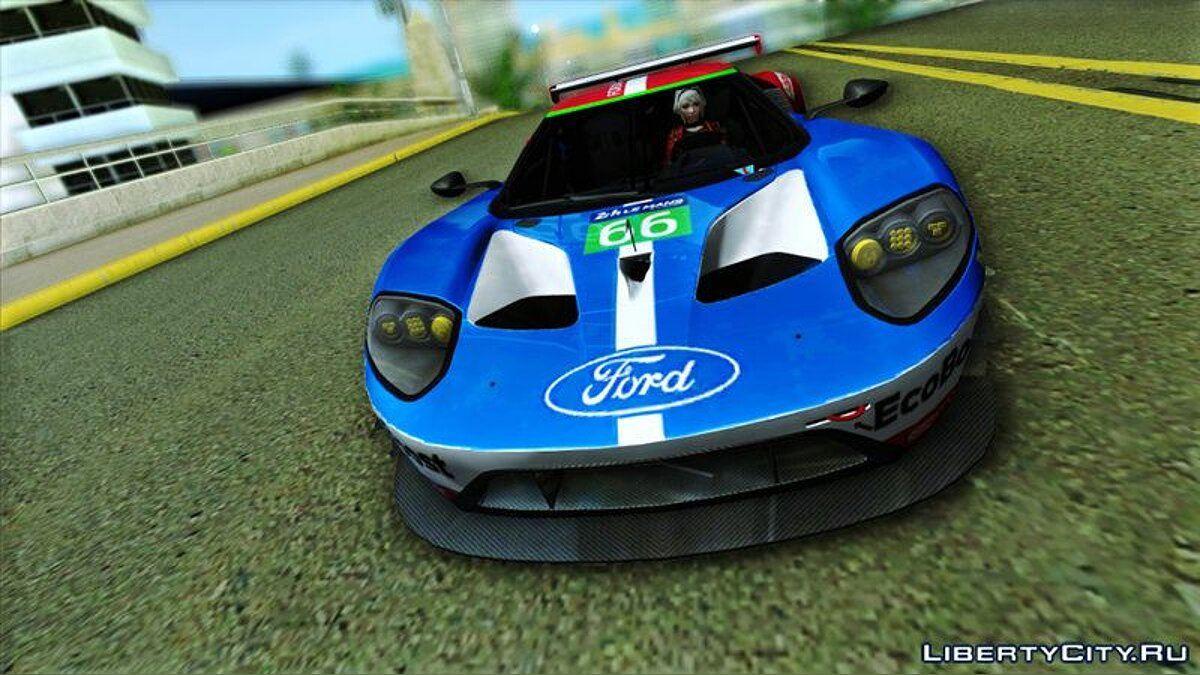 Ford #66 Ford Racing GT Le Mans Racecar для GTA Vice City - скриншот #2