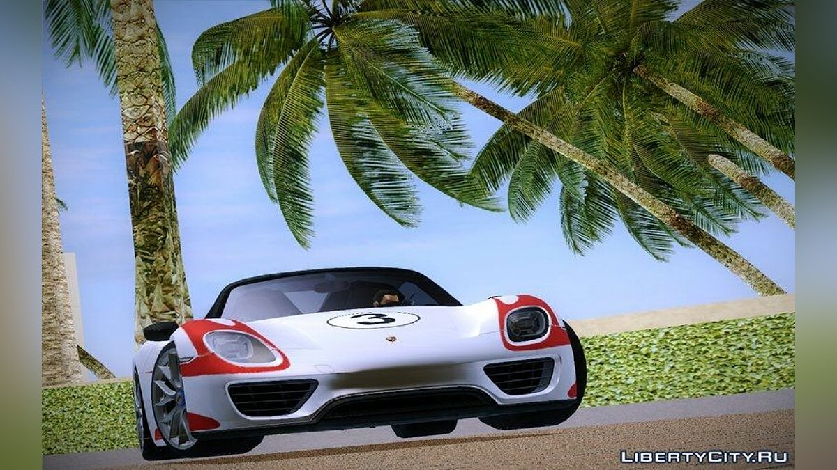 2016 Porsche 918 Spyder Weissach Package для GTA Vice City