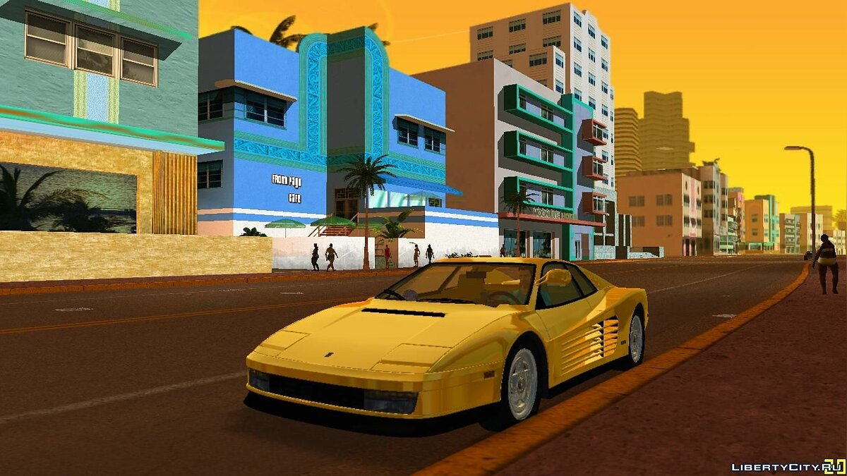 Ferrari Testarossa 1986 ''Miami Vice Testarossa'' для GTA Vice City
