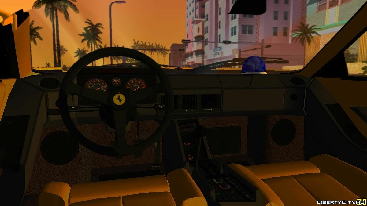Машина Ferrari Testarossa 1986 ''Miami Vice Testarossa'' для GTA Vice City