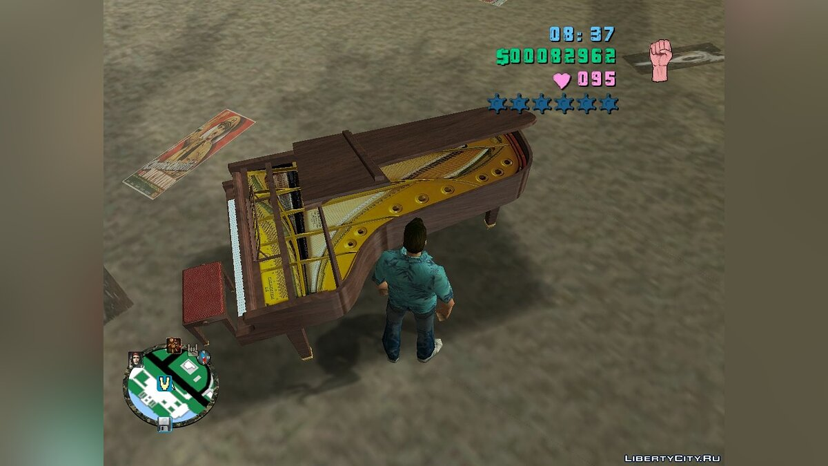 Машина Crazy Piano Coffin Dance для GTA Vice City