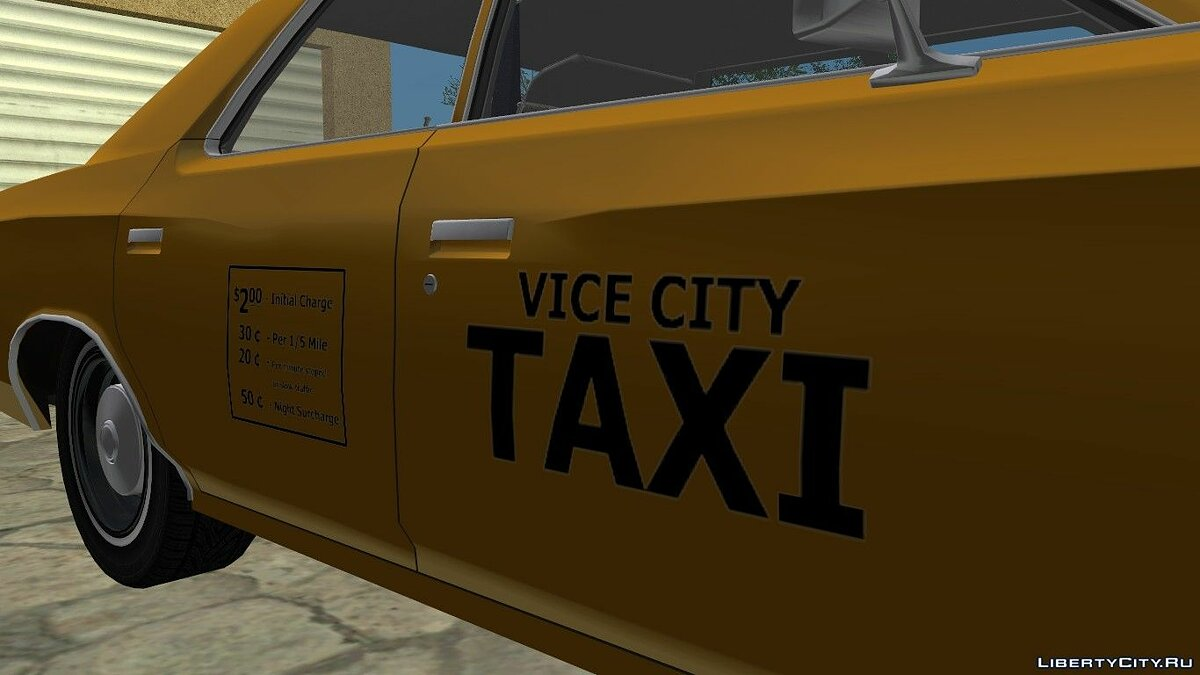 Ford Custom 500 (4-door) 1975 Taxi для GTA Vice City - скриншот #5
