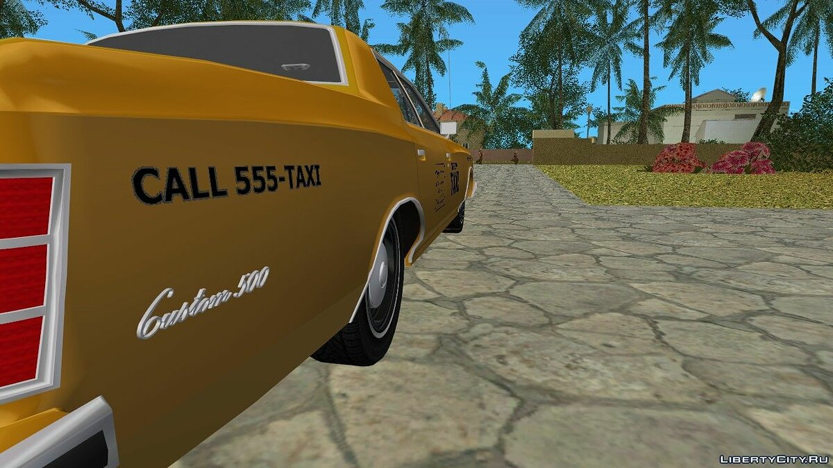 Ford Custom 500 (4-door) 1975 Taxi для GTA Vice City - скриншот #8